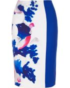 Roland Mouret Aspen Paneled Silk Skirt - Lyst