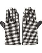 Forever 21 Houndstooth & Faux Leather Gloves - Lyst