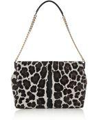 Jimmy Choo Ally Leopard-Print Calf Hair Shoulder Bag - Lyst