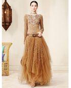 Ralph Lauren Collection Beaded Sarena Gown - Lyst