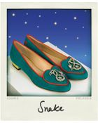 Charlotte Olympia Year Of The Snake Suede Slippers - Lyst