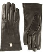 Ferragamo Leather Gloves - Lyst