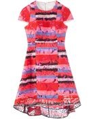 Peter Pilotto Orchid Lace Printed Dress - Lyst