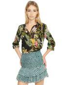 Etoile Isabel Marant Floral Printed Cotton Voile Shirt - Lyst