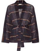Etoile Isabel Marant Velda Checked Cotton-Gauze Top - Lyst