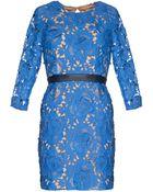 Pixie Market Josephine Blue Lace Cocktail Dress - Lyst