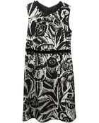 Marc Jacobs Floral Printed Dress - Lyst