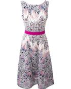 Peter Pilotto Embroidered A-Line Dress - Lyst