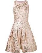 Oscar de la Renta Brocade Cocktail Dress - Lyst