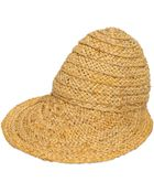 Emilio Pucci Hand-Woven Straw Hat With Visor - Lyst