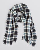 Kate Spade Plaid Blanket Scarf - Lyst