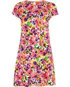 River Island Pink Floral Print Swing Dress - Lyst