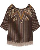 Suno Embroidered Wool Top - Lyst