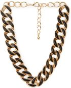 Forever 21 Faux Stone Chain-Link Necklace - Lyst