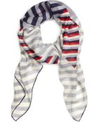Brooks Brothers Cashmere And Silk Multistripe Scarf - Lyst