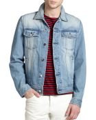 AMI Denim Jacket - Lyst