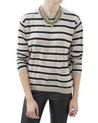 Chinti & Parker Dropped Shoulder Stripe Sweater - Lyst