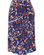 Kenzo Printed Silk Crepe De Chine Skirt - Lyst