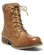 Steve Madden Jacksin Leather Booties - Lyst