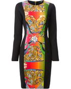 Versus  Printed Panel Dress - Lyst