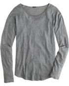 J.Crew Long-Sleeve Linen-Cotton Tee - Lyst