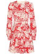 Saint Laurent Printed Dress - Lyst