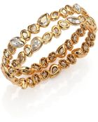 Alexis Bittar Elements Moonlight Crystal Two-Row Stacked Bracelet - Lyst