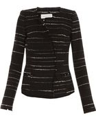 Etoile Isabel Marant Glenn Stripe Cotton Mix Jacket - Lyst