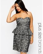Lovedrobe Lace Peplum Pencil Dress - Lyst
