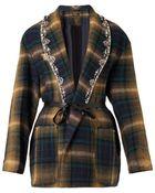 Isabel Marant Milroy Embellished-Lapels Checked Jacket - Lyst