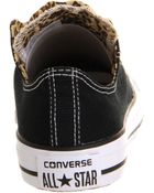 Converse All Star Ox Low Double Tongue Black Leopard Smu - Lyst