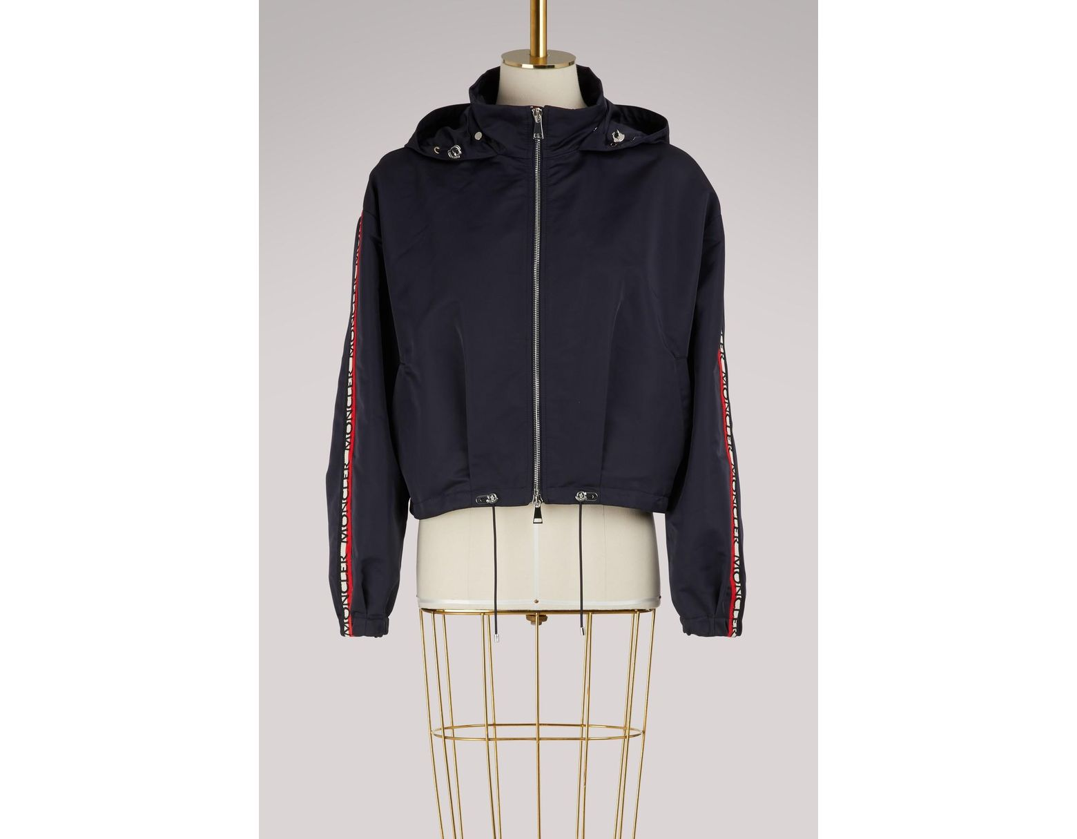 5d9517be3 Moncler Zirconite Hooded Jacket in Blue - Lyst