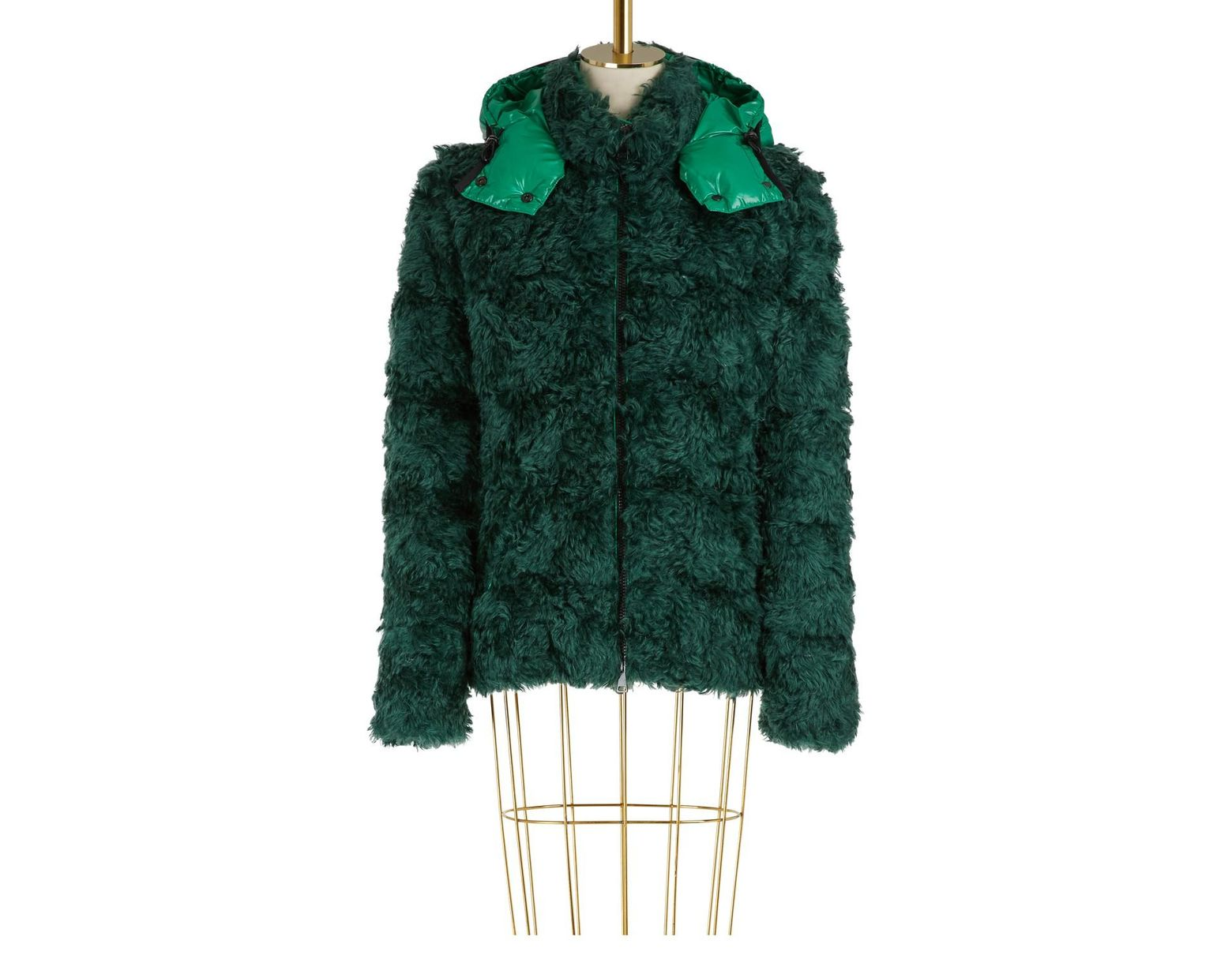 30553a79a Moncler Badyp Mohair Jacket in Green - Lyst