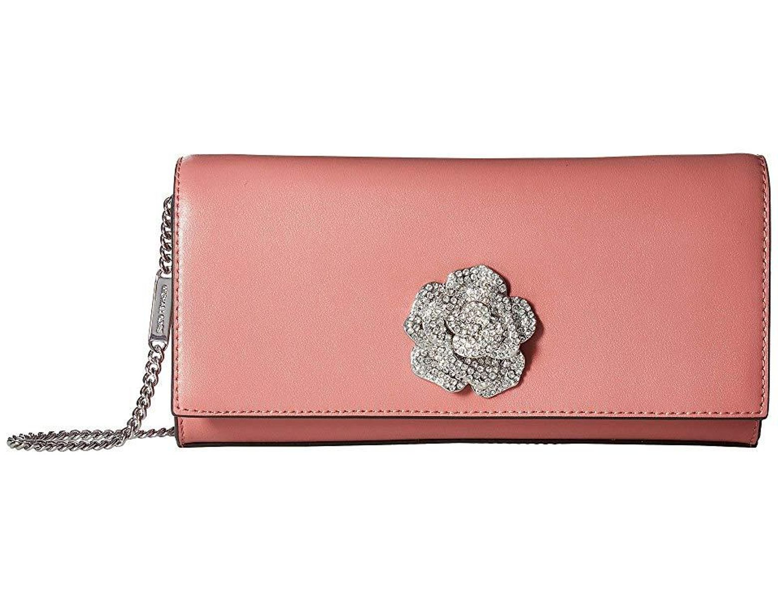 dc57af87c4 MICHAEL Michael Kors Bellamie Large Clutch (rose) Clutch Handbags in Pink -  Save 44% - Lyst