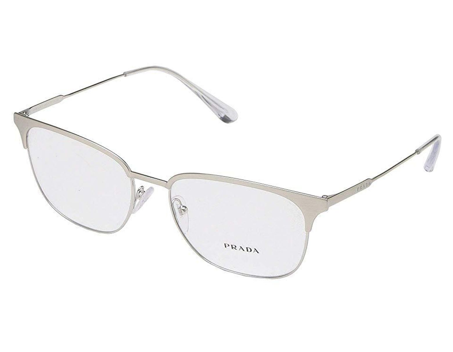 319bf3193 Prada 0pr 59uv (silver) Fashion Sunglasses in Metallic - Lyst