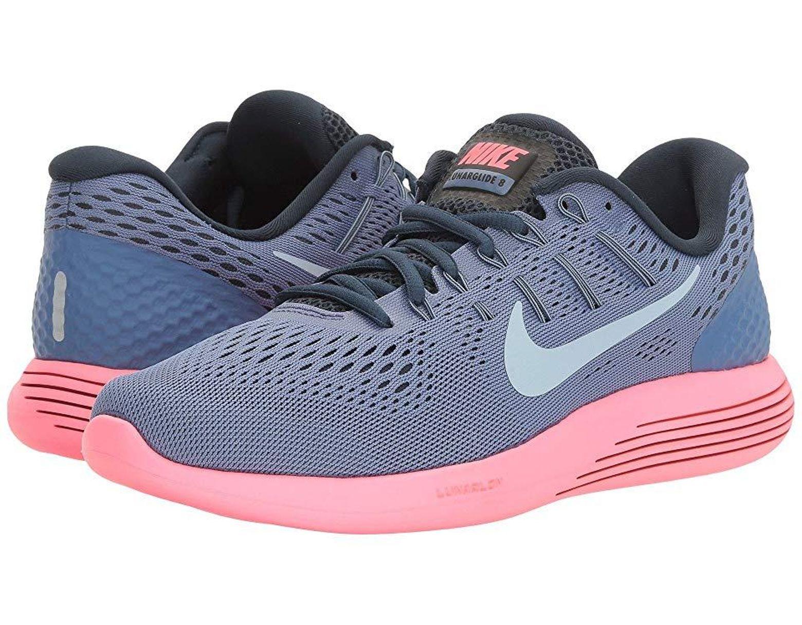 timeless design c26ea dc256 Nike Lunarglide 8 (blue Moon ligh Tarmory Blue racer Pink) Running Shoes in  Blue - Lyst