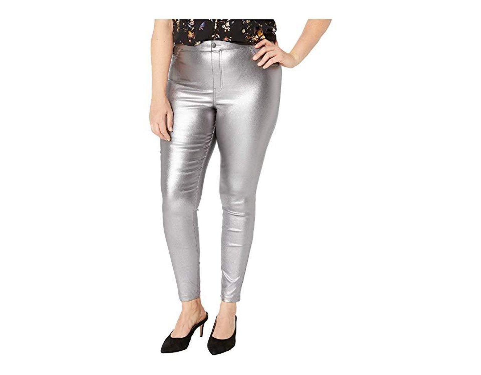 30c8036ecd7f0f Hue Plus Size Iridescent Metallic Denim Leggings (gunmetal) Jeans in Gray -  Save 39% - Lyst