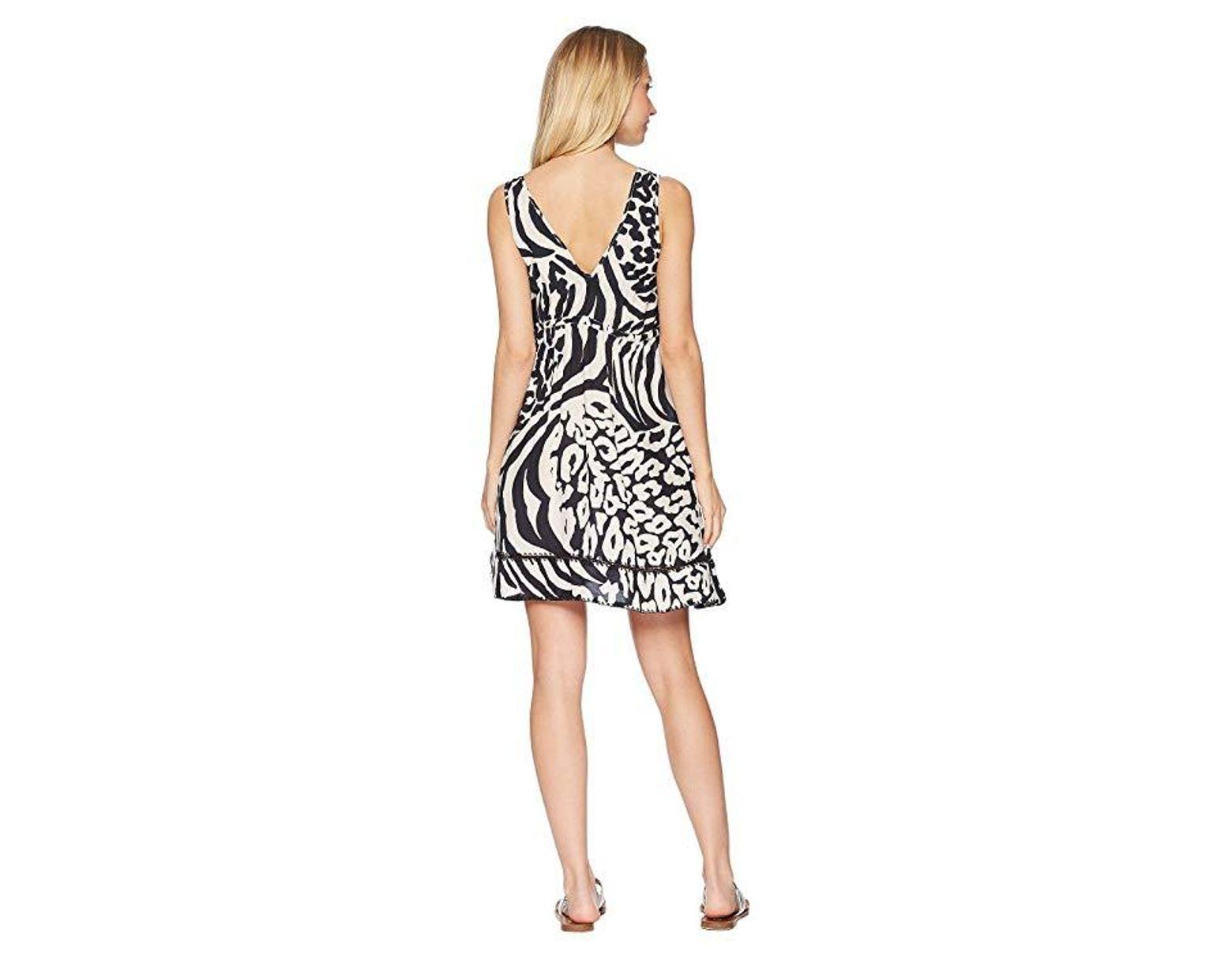 f90ef2f78 Luli Fama Cayo Setia Stitched V-neck Short Dress Cover-up (multi) Swimwear  in Black - Save 33% - Lyst