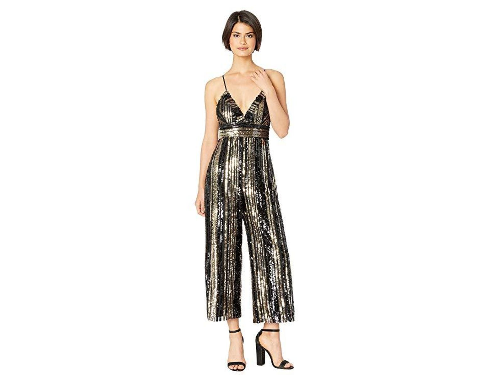 e3992e653aa Bardot Goldie Jumpsuit (gold Stripe) Jumpsuit & Rompers One Piece in  Metallic - Save 77% - Lyst
