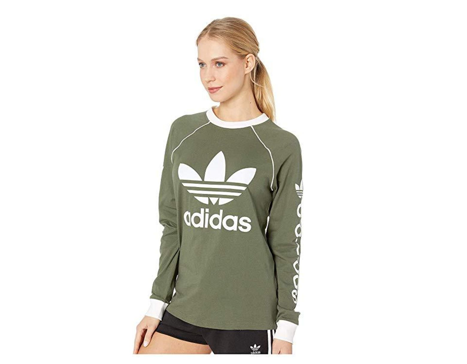15d928029 adidas Originals Og Long Sleeve (base Green) Long Sleeve Pullover in Green  - Lyst
