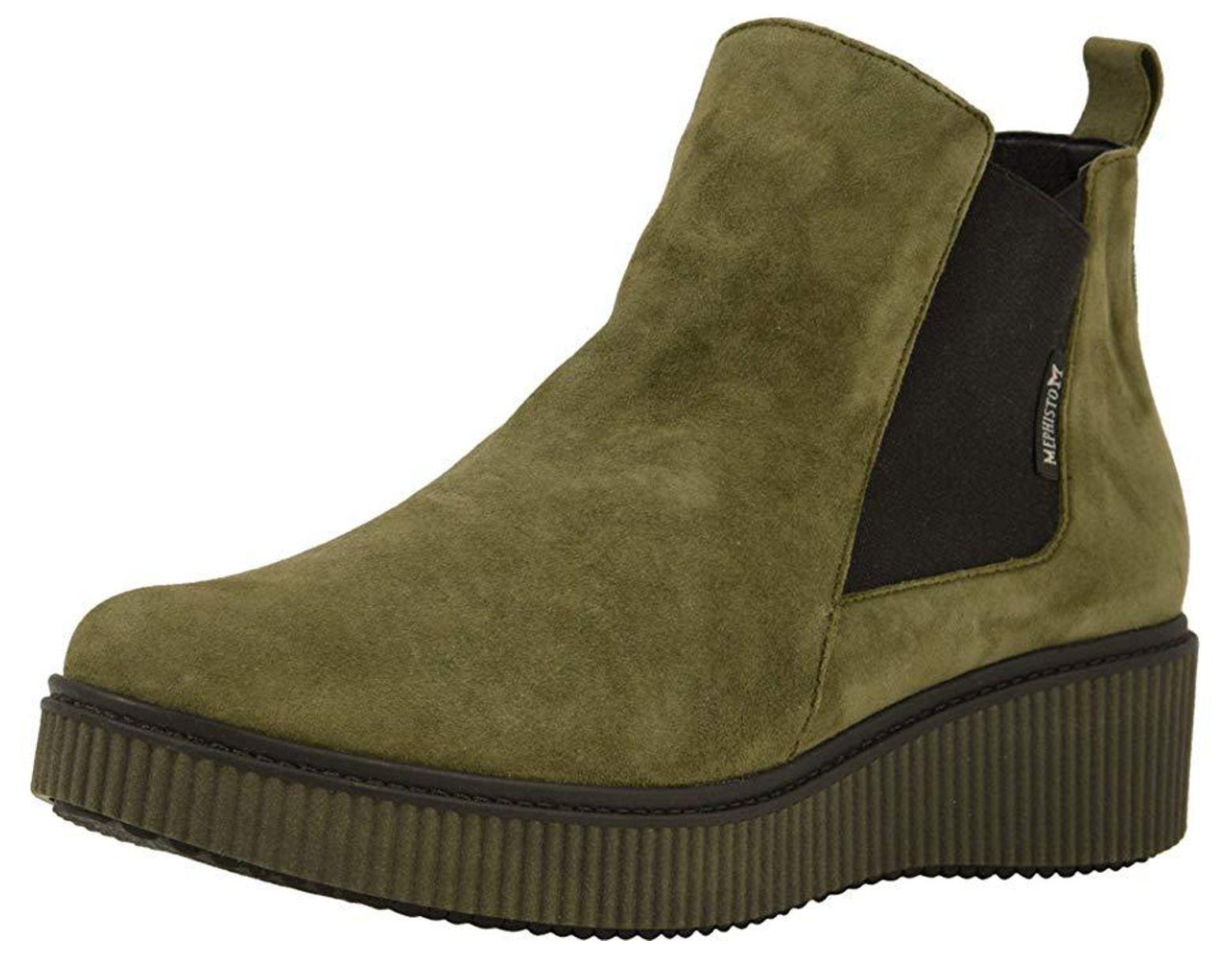 fe8813024a0 Mephisto Emie (khaki Green Velcalf Premium) Slip On Shoes in Green - Save  28% - Lyst