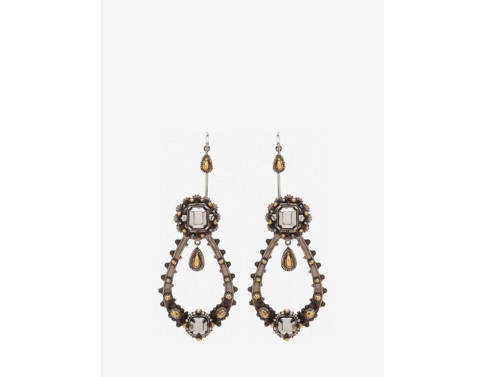 fef7a7c9d Alexander McQueen Metallic Armour Earrings in Metallic - Save 40% - Lyst