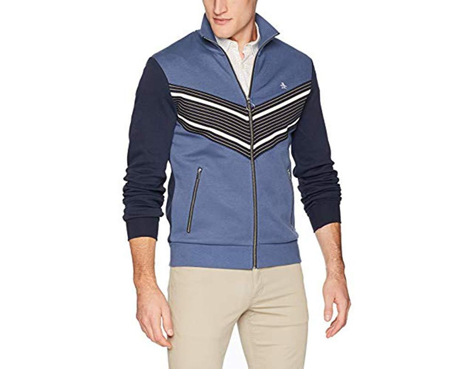 2a09201c0 Men's Blue Big And Tall Long Sleeve Track Jacket