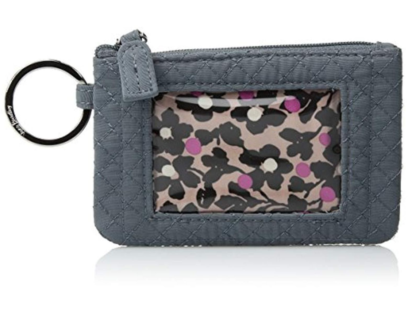 sale retailer cc56b 5f4c3 Women's Gray Iconic Zip Id Case, Microfiber