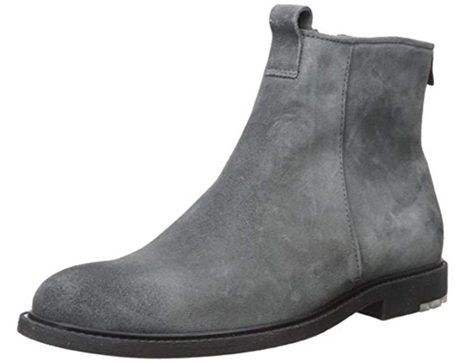 bcf638fec4b5 Lyst - BOSS Boss Orange Cultural Roots Suede Zip Boot Fashion in Gray for  Men - Save 4%