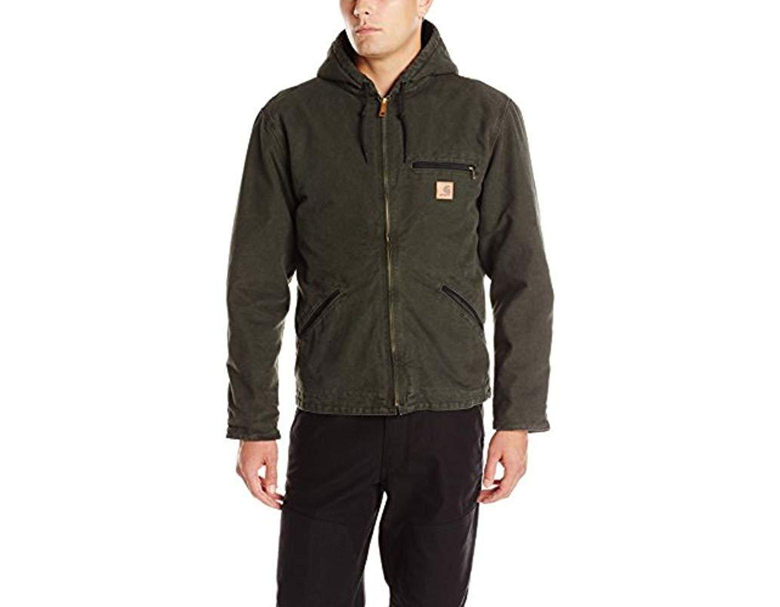 f2a974d8cc040 Men's Sherpa Lined Sandstone Sierra Jacket