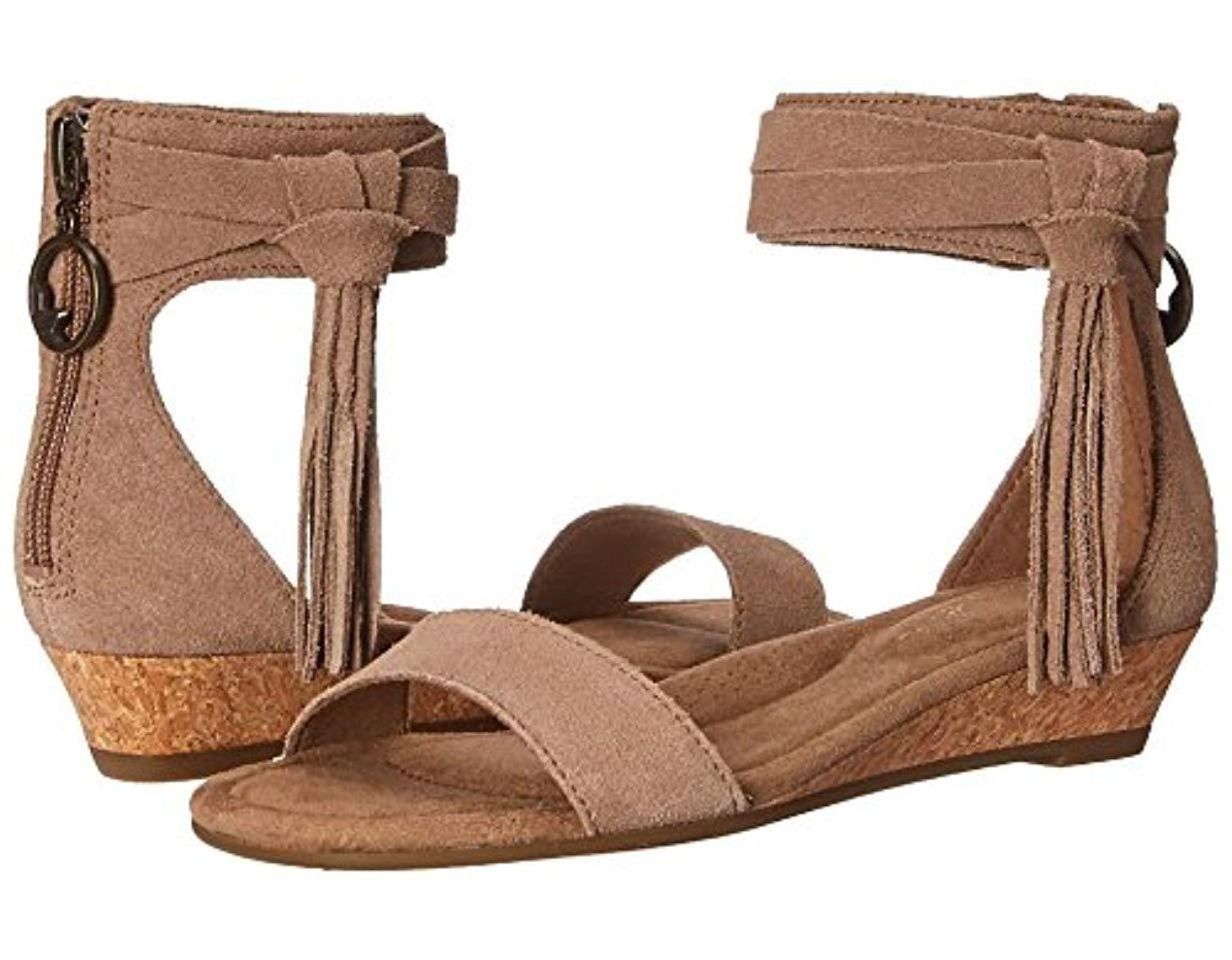 3b7f1804f45a UGG. Women s Brown W Saige Wedge Sandal ...