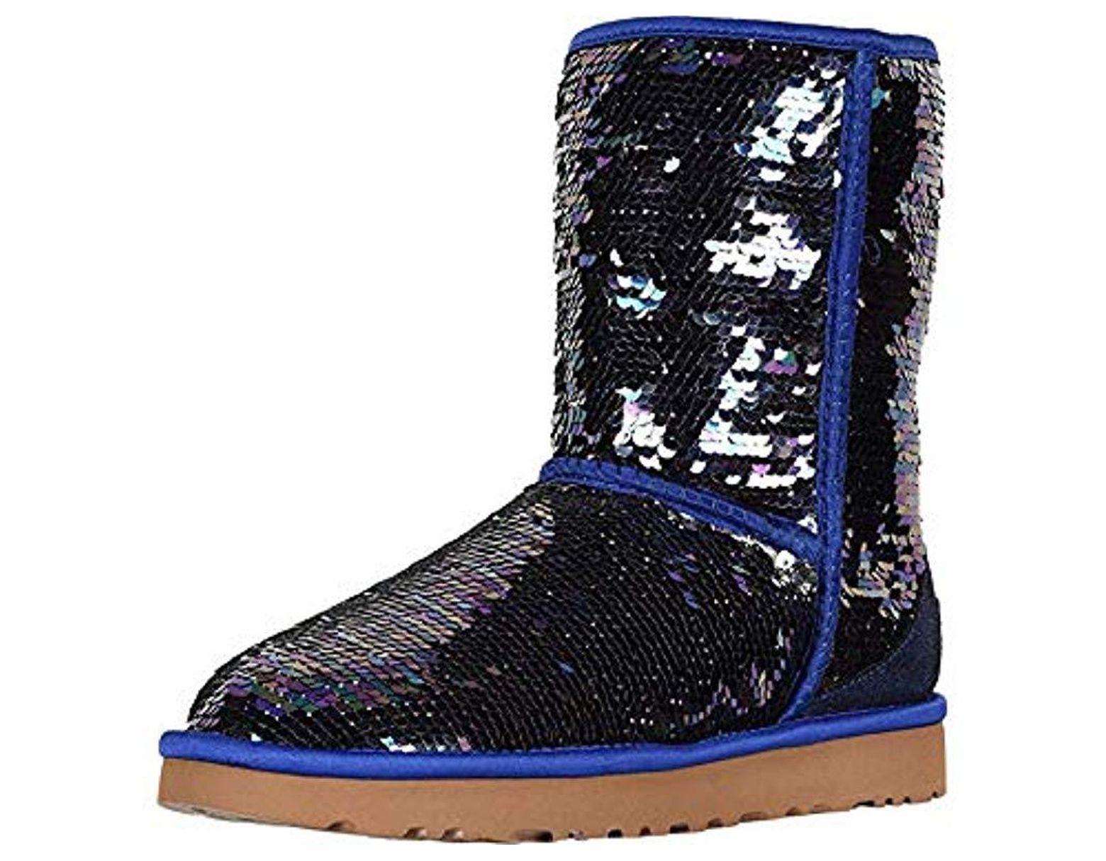 27d62471b146b Women's Blue W Classic Short Sequin Fashion Boot