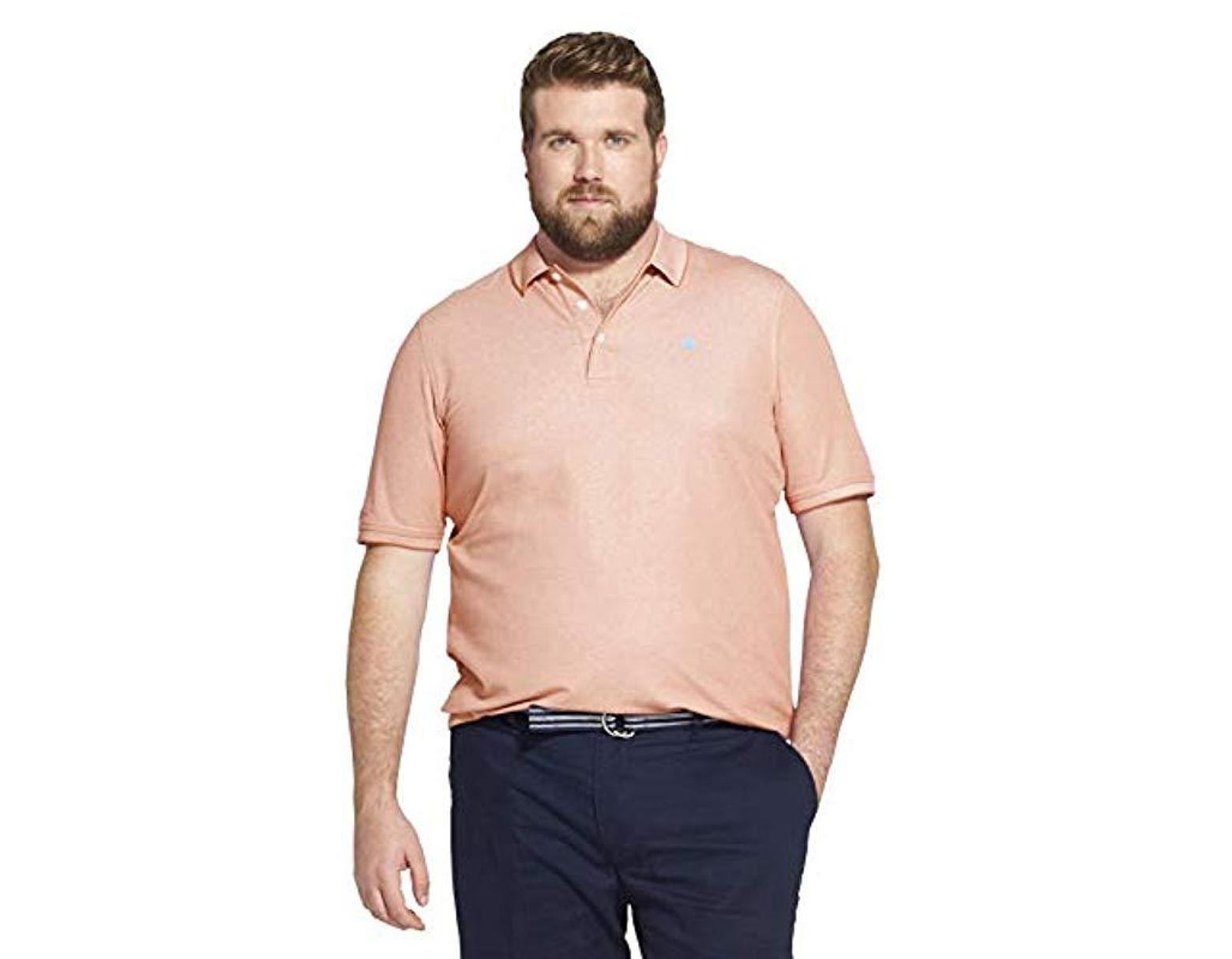 ca8de244 Izod Big And Tall Advantage Performance Short Sleeve Solid Heather Polo for  Men - Lyst
