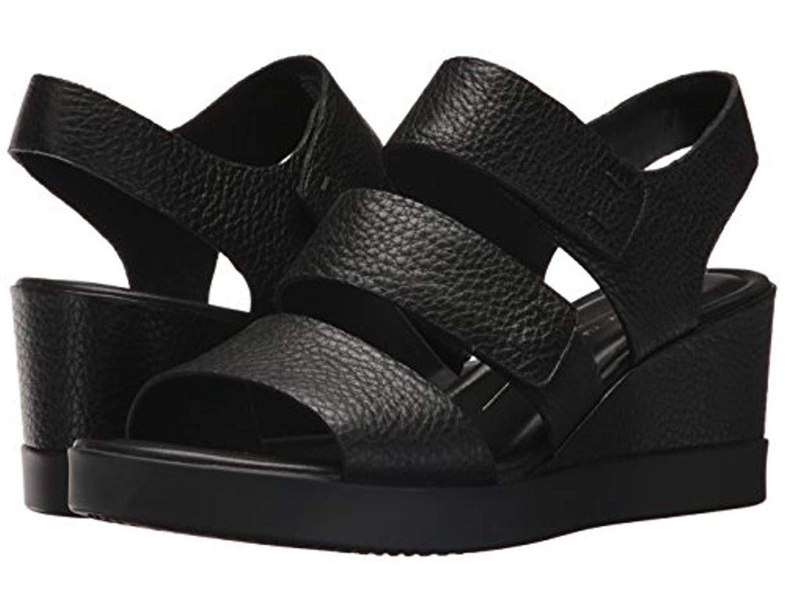 Black Shape Wedge Women's Sandal Plateau TlcKJF1